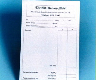 receipts personalised range the old printing company ltd